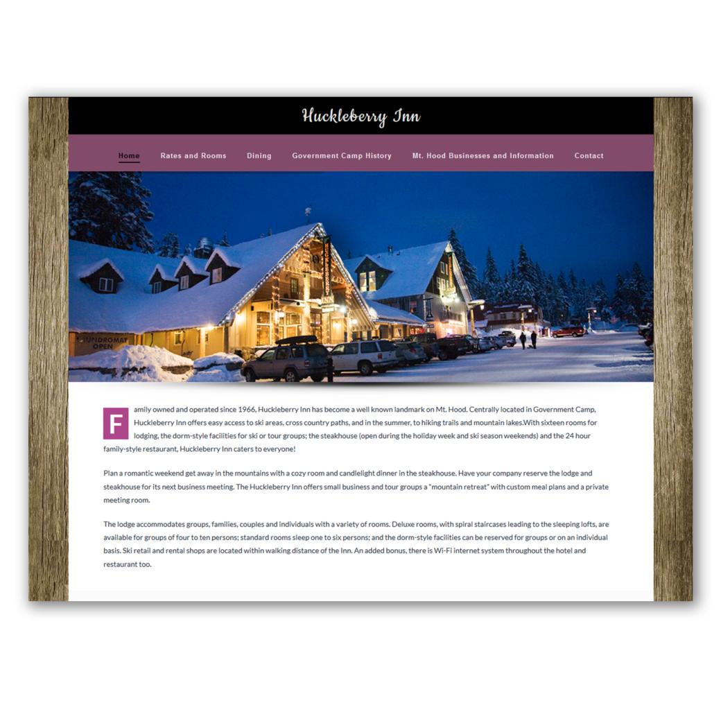 Huckleberry Inn Website