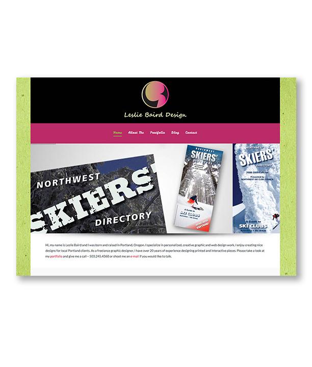 Leslie Baird Design Website