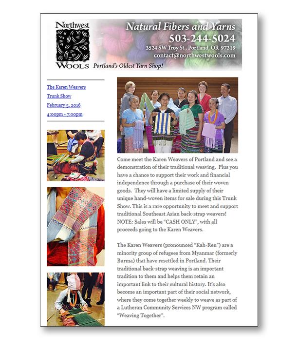 Northwest Wools Newsletter